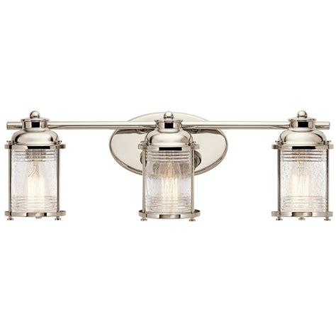 kichler lighting ashland bay polished nickel bathroom