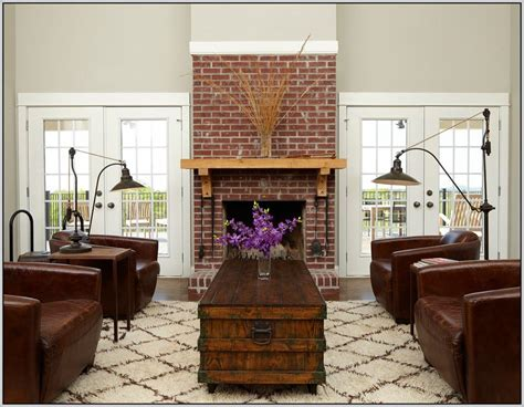 painting red brick fireplace pinteres