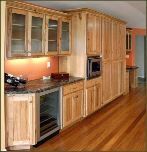 hickory cabinets with dark wood floors loccie better