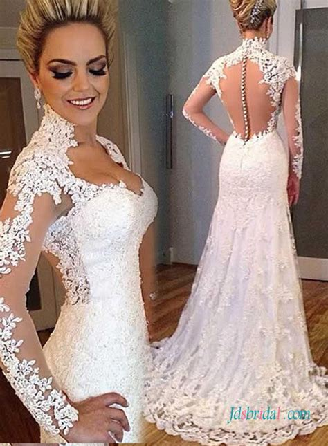 high neck bridal wedding dressesmodest rustic lace