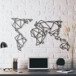 Deco Metal Mural : metal deco world map hoagard metal deco pinterest world deco and world maps ~ Nature-et-papiers.com Idées de Décoration