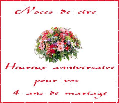 anniversaire de mariage 4 ans noce de joyeux anniversaire et annif de mariage 4 ans noces de