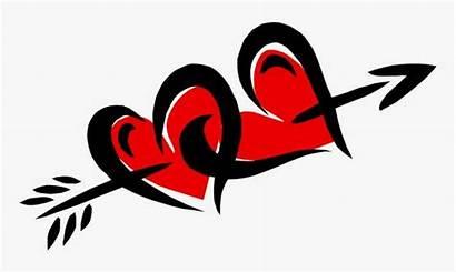 Arrow Cupid Heart Clipart Clip Hearts Cupids