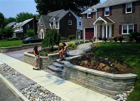 front yard retaining wall design ideas pictures