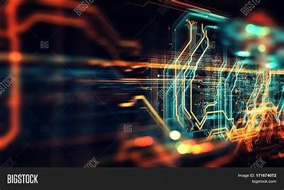 Circuit Board Neon Bigstock Trial