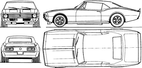 Chevrolet Camaro Coupe Blueprints Free Outlines