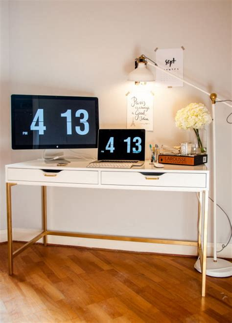 ikea micke bureau 20 cool and budget ikea desk hacks hative