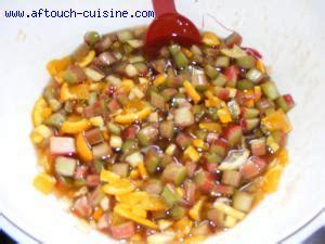 aftouch cuisine confitures de rhubarbe orange citron recette aftouch cuisine