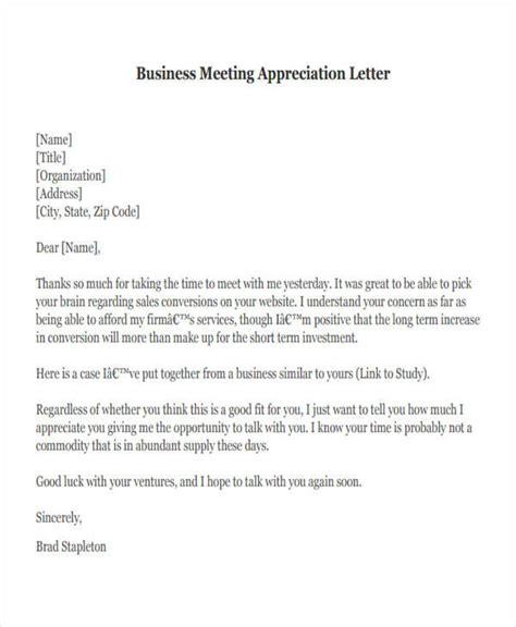 appreciation letters