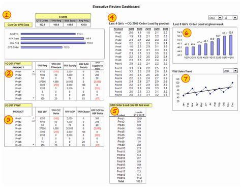 Resume Snapshot Exle by Executive Review Dashboard Using Excel Template Demo
