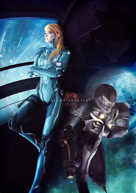 Samus Aran Metroid Commission By Lacewingedsaby On