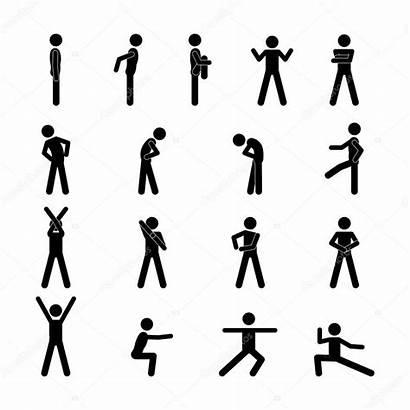 Stick Figure Human Vector Illustrations Silhouette Sport