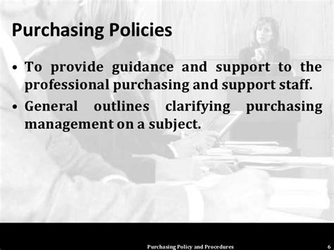 Purchasing Policies And Procedures Template by Purchasing Policy And Procedures