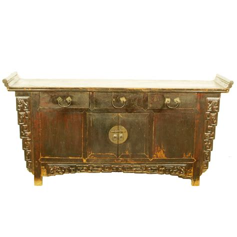 Black Brown Sideboard by Antique Asian 72 Quot Brown Lacquer Buffet