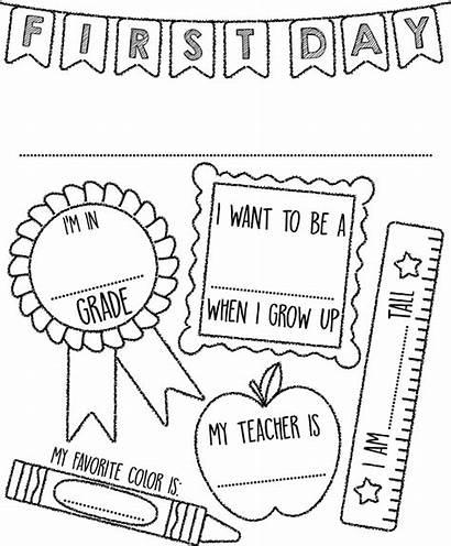 Coloring Pages Crayola Sign Kindergarten Preschool Template