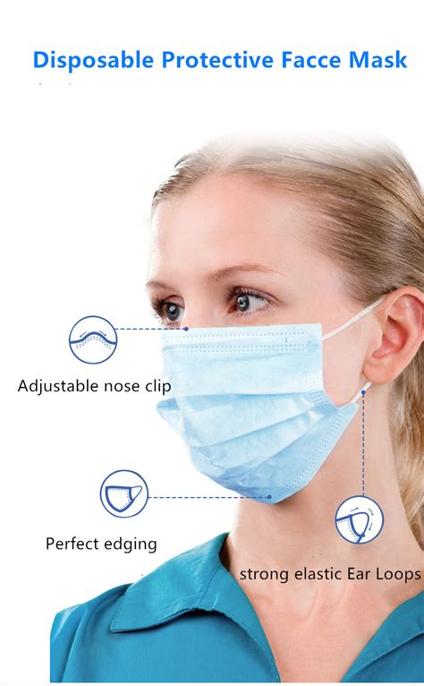 disposable protective face mask  ear loops pcs
