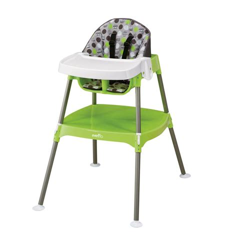 evenflo 3 in 1 high chair walmart evenflo convertible high chair dottie lime