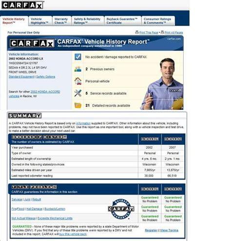 Carfax Report Free