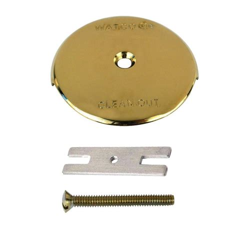 Bathtub Overflow Plate Replacement by Watco 1 Bathtub Overflow Plate Kit Polished Brass