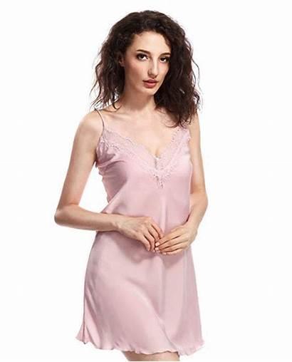 Silk Satin Lace Slip Chemise Nightie Sleepwear