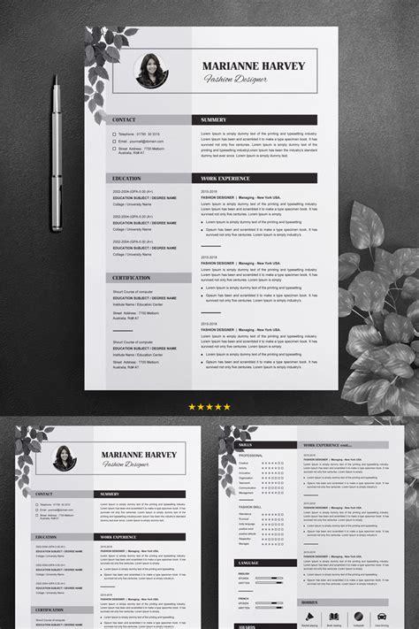 floral cv resume template