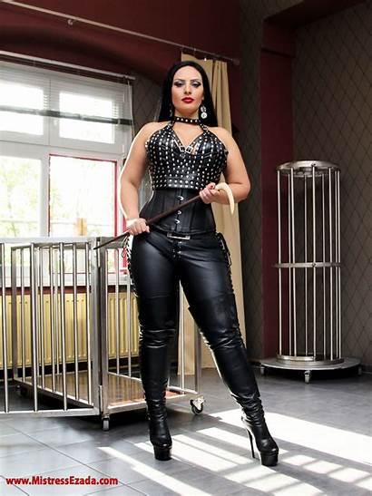 Mistress Ezada Sinn Leather Femdom Female Boots