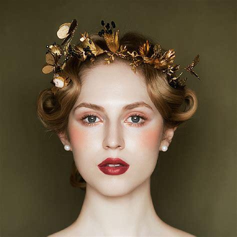 hair ornaments royal europe tiara butterfly dragonfly crown golden