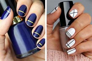 30 Cool Easy Nail Polish Designs 2017 - SheIdeas