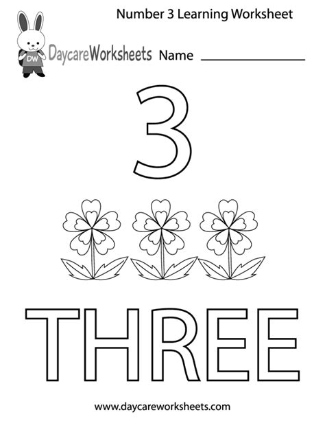 preschool learning pages coloring pages preschool number three learning worksheet 157