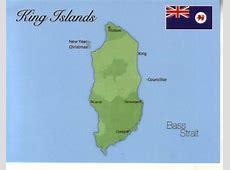 Map of King Islands Tasmania $100 Postcard Interactive
