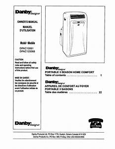 Danby Designer 12000 Btu Portable Air Conditioner Manual