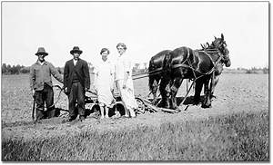 Ontario's Agricultural Past: Two women and two men stand ...