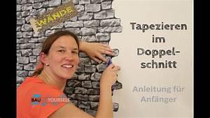 Wand Mit Steinoptik : tapezieren doppelschnitt wandgestaltung wand w nde ~ Watch28wear.com Haus und Dekorationen