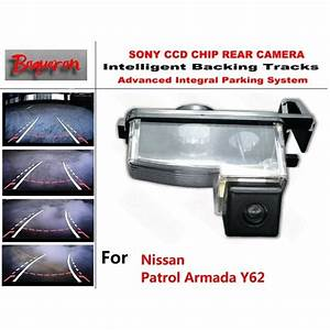 For Nissan Patrol Armada Y62 Ccd Car Backup Parking Camera