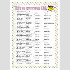 Question Tag Exercise Worksheet  Free Esl Printable Worksheets Made By Teachers