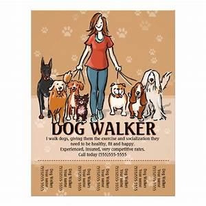 dog walker dog walking advertising template flyer zazzle With dog walking flyer template free