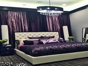 White home accents dark purple walls bedroom dark purple for Dark purple bedroom for girls