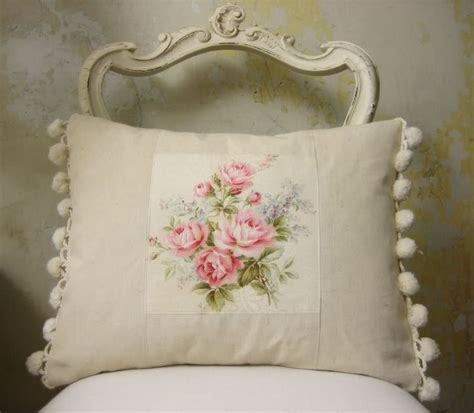 shabby chic curtains and cushions french vintage fabric cushion pillow almohadas pinterest