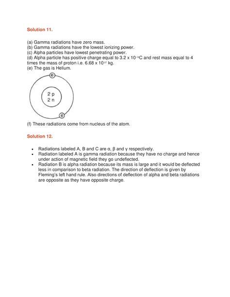 icse solutions class  physics chapter  radioactivity