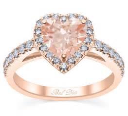 gold morganite engagement rings cut morganite engagement ring in gold