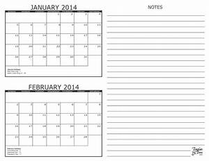 2 month calendar 2014 With 2 month calendar template 2014