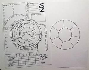 unique wheel calendar for bujo printable inserts bullet With circular calendar template