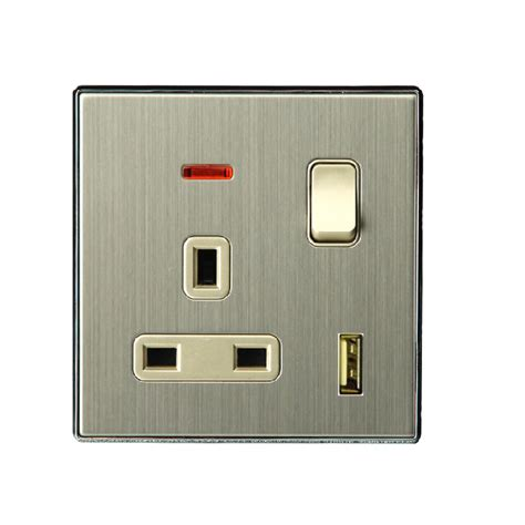 a large home wall switch socket 13a bs socket with switch
