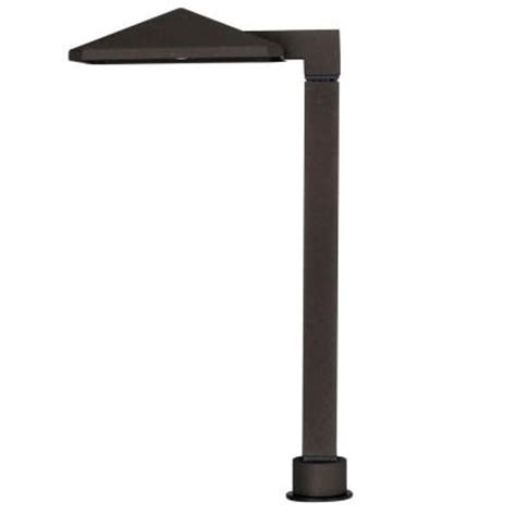 hton bay low voltage led bronze outdoor path light