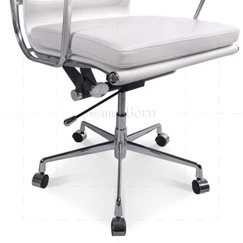 Eames Soft Pad Lounge Chair Replica by Ea219 Eames Style Office Chair High Back Soft Pad White