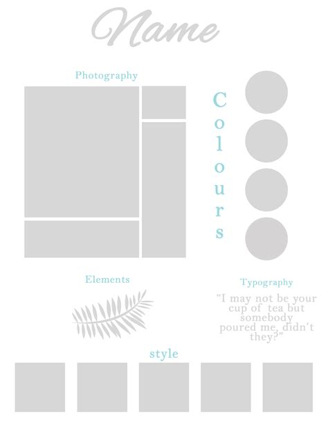 Mood Board Template Moodboard Template