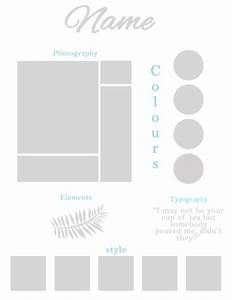 moodboard template With fashion mood board template