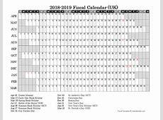 2018 Fiscal Year Calendar Free Printable Templates