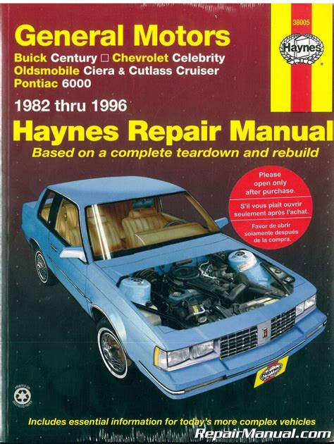 manual repair autos 1983 pontiac 6000 free book repair manuals gm buick century chevrolet celebrity oldsmobile ciera cutlass cruiser pontiac 6000 1982 1996