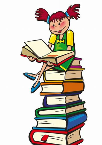 Clipart Books Reading Clip Center Library Transparent